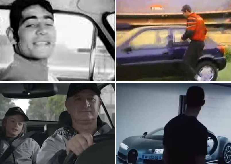 Rivellino, Rogério Ceni, Felipão e Cristiano Ronaldo estrelaram comerciais de carros. Reprodução