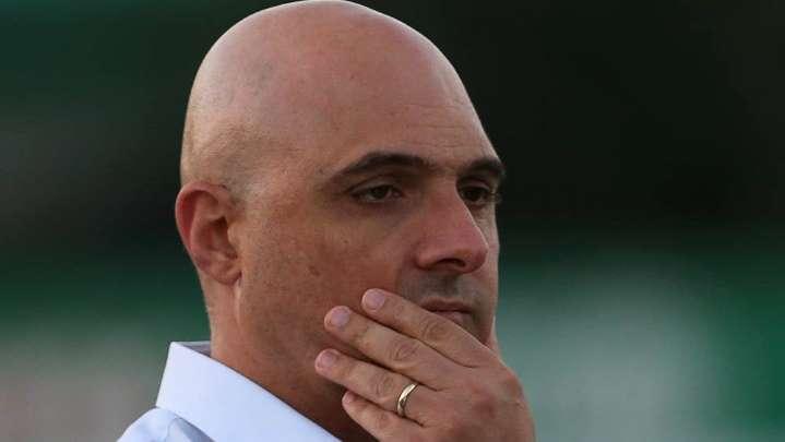 Presidente inconformado com o gol anulando, arbitragem alega toque de mão de Willian na jogada. Foto: César Greco/Agência Palmeiras