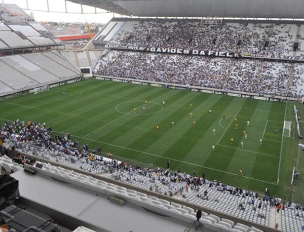 Mais um capítulo da novela do estádio corintiano. Foto: Marcos Júnior Micheletti/Portal TT
