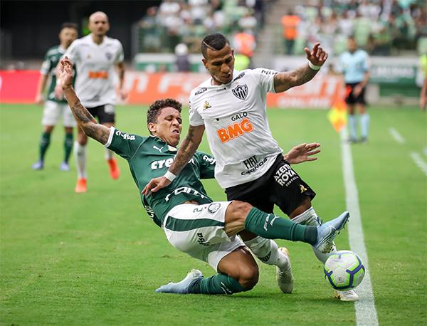 Na próxima rodada, o Palmeiras visitará o Santos, quarta-feira. Foto: Bruno Cantini/Atlético-MG