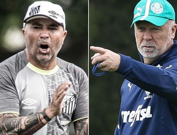 Fotos: Ivan Storti/Santos e Cesar Greco/Palmeiras