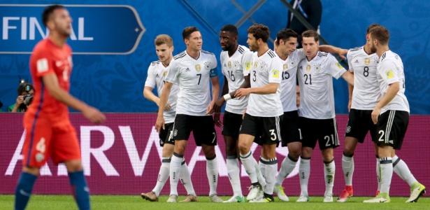 e7b6f684f6cd2 A tetracampeã mundial nunca havia conquistado o torneio. A Alemanha é  campeã da Copa das Confederações.