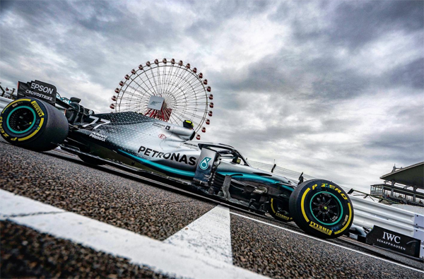 Bottas liderou as duas sessões livres para o GP de Suzuka. Foto: Mercedes-AMG F1