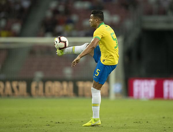 Titular com Tite, Casemiro reconhece que a seleção está muito abaixo do esperado (Foto: Lucas Figueiredo/CBF)