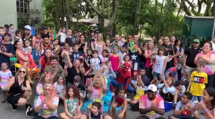Garotada fez a festa na sede da emissora, no Morumbi. Foto; Divulgação