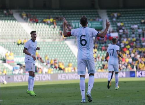 A seleção argentina está a cinco jogos sem perder.(Foto: @Argentina)
