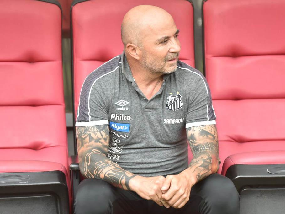 Sampaoli tem contrato com o Santos até 2020, mas não tem sua permanência garantida (Foto: Ivan Storti/Santos FC)