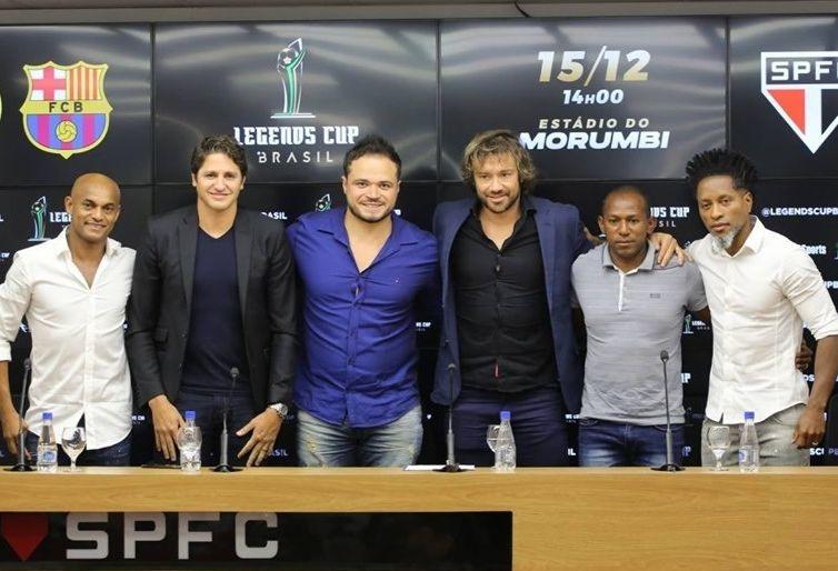 Lugano é uma das estrelas que podem jogar no time de Lendas do tricolor (Foto:Divulgação)