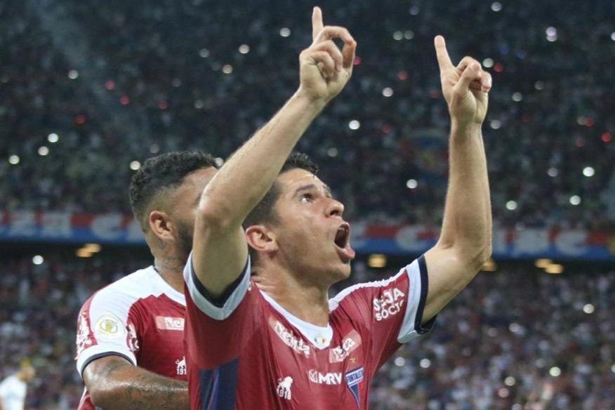 Osvaldo marcou e deu a vitória em casa ao Fortaleza (Foto: Fortaleza/Divulgação)