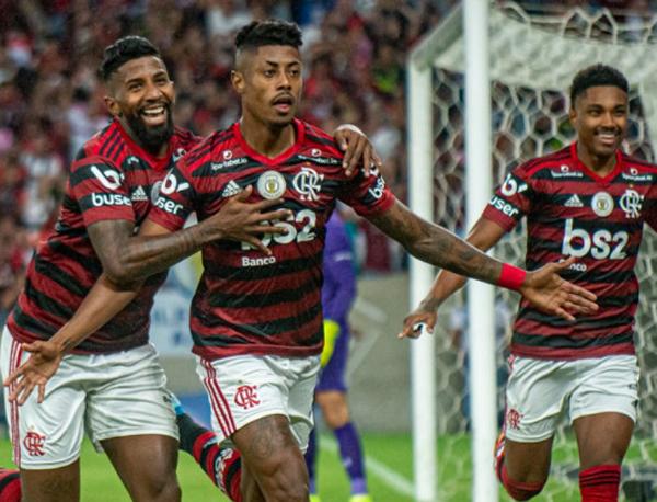 Bruno Henrique marcou o primeiro gol rubro-negro contra o Flu. Foto: Alexandre Vidal/Flamengo