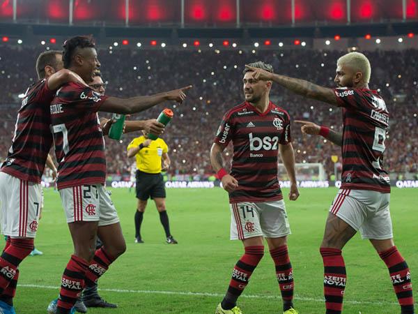 Juntos, Gabigol e Bruno Henrique somam 60 gols no ano (Foto: Alexandre Vidal/Flamengo)
