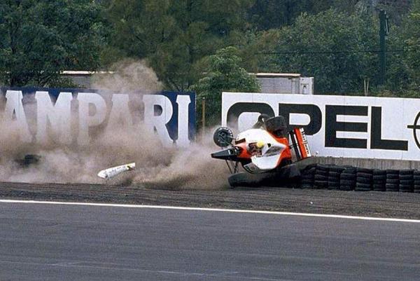 PBrasileiro se acidentou em 1991 com sua McLaren-Honda. Foto: Divulgação