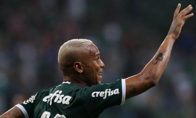 Deyverson abriu o placar para a equipe esmeraldina. Foto: Twitter/Palmeiras