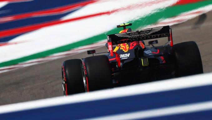 Holandês colocou a Red Bull no topo no ensaio derradeiro em Austin. Foto: Aston Martin Red Bull Racing