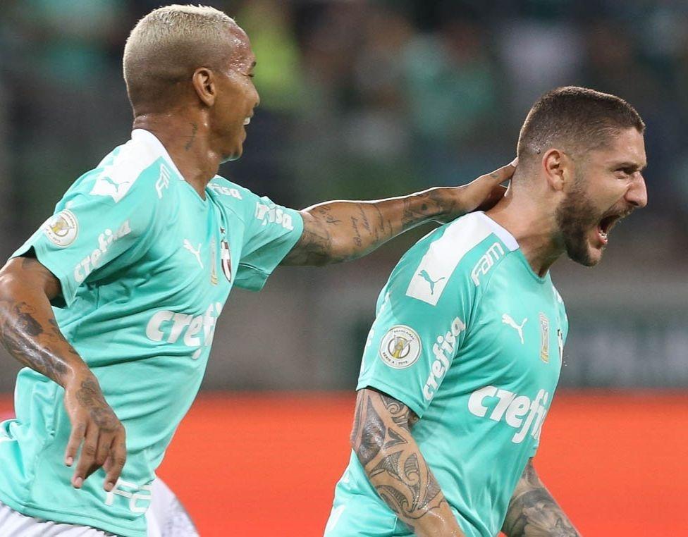 Zé Rafael aproveitou chance no time principal e marcou o gol da vitória (Foto: Cesar Grecco/Palmeiras)