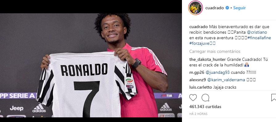 A Juventus pagou 105 milhões de euros (R$ 471 milhões) para contratar Cristiano Ronaldo