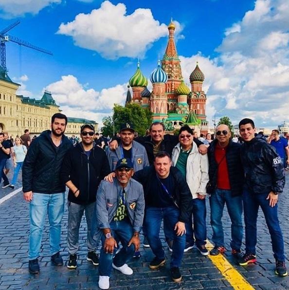 Parte da equipe da  Rádio Transamérica (maior equipe de rádio do Brasil)  em Moscou