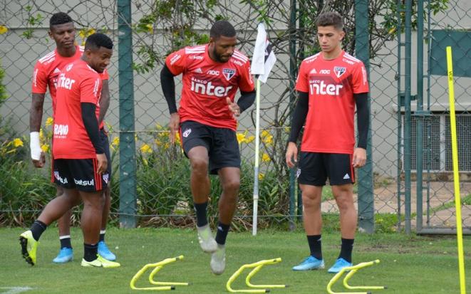 Equipe paulista fez seu último treino antes do confronto no CT da Barra Funda. Foto: Érico Leonan / saopaulofc.net