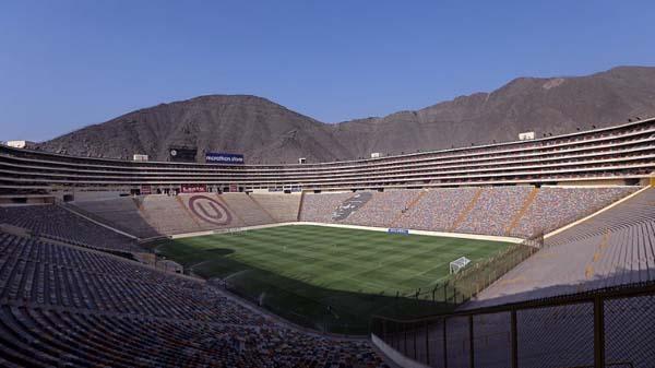 Estádio Monumental de Lima será o palco de Flamengo e River Plate. Foto: Instagram/Conmebol
