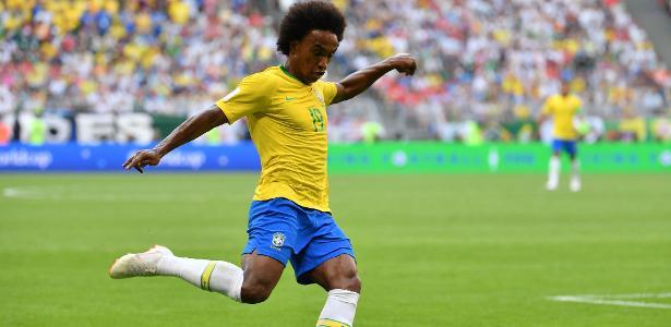 Willian disputou sua segunda Copa do Mundo. Foto: Emmanuel Dunand/AFP Photo
