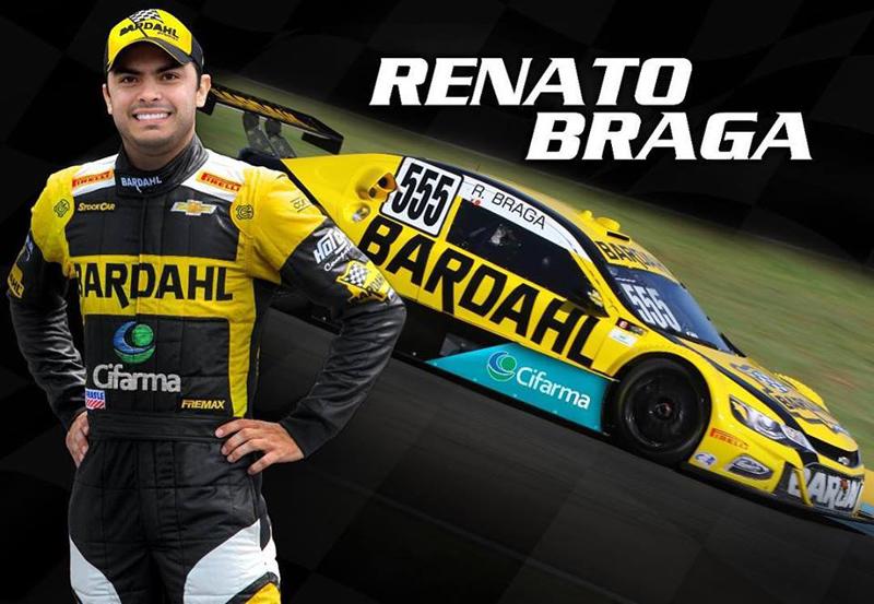 Renato Braga estreará pelo time de Amadeu Rodrigues em Goiânia. Foto: Divulgação/Bardahl Hot Car