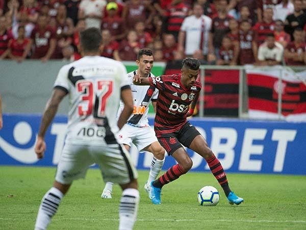 No primeiro turno, Mengão venceu o Vasco por 4 a 1. Foto: Alexandre Vidal / Flamengo