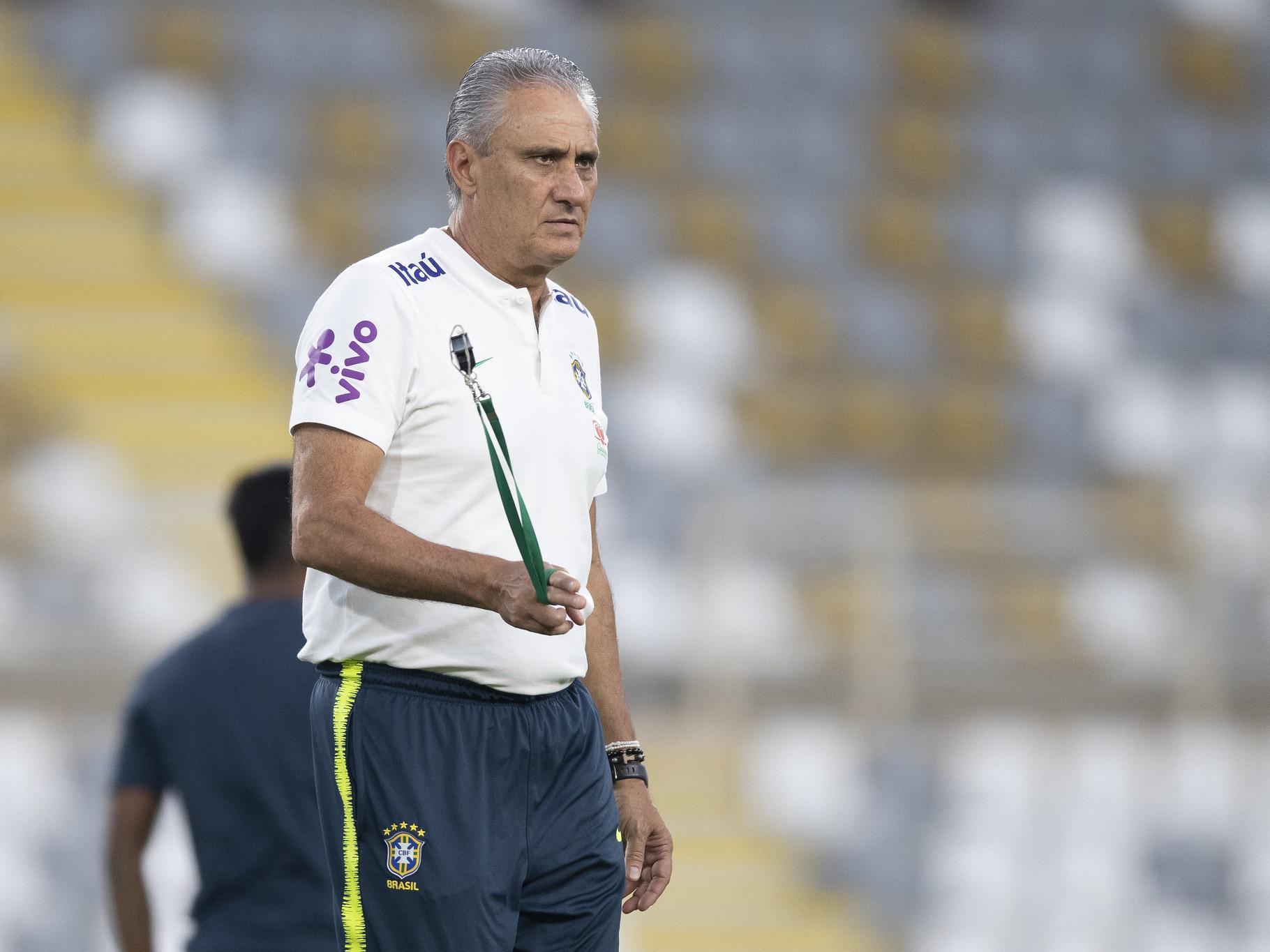 Treinador da seleção rasgou elogios ao atacante Rodrygo. Lucas Figueiredo/CBF