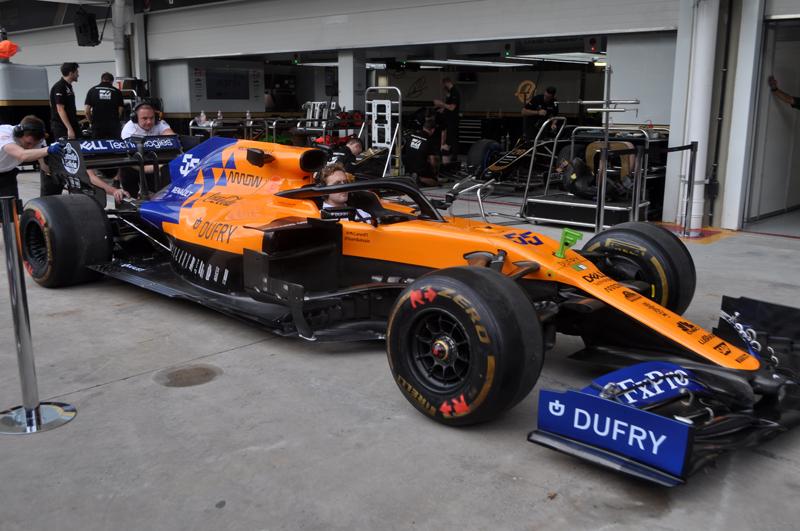 McLaren simulou trocas de pneus na pista paulistana. Foto: Marcos Júnior Micheletti/Portal TT