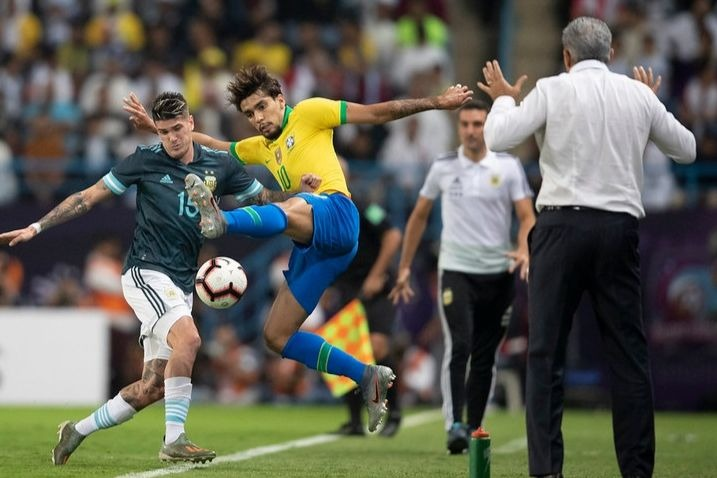 Na derrota para Argentina, Paquetá foi substituído no intervalo. Foto: Lucas Figueiredo/CBF