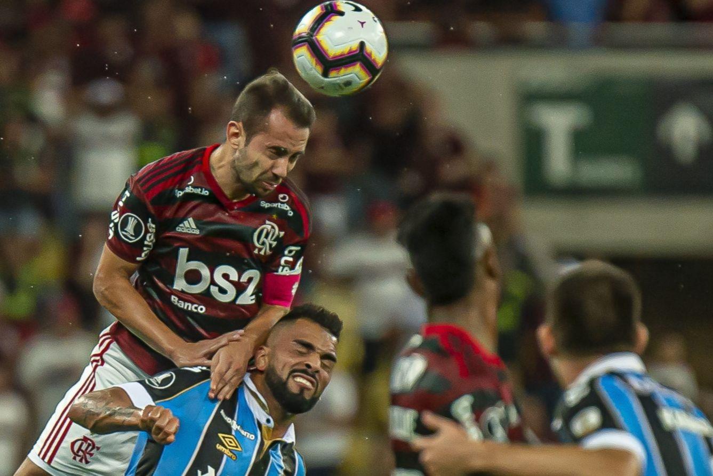 No último encontro entre as duas equipes, Mengão fez 5 a 0 no tricolor gaúcho. Foto: Alexandre Vidal, Marcelo Cortes & Paula Reis / Flamengo
