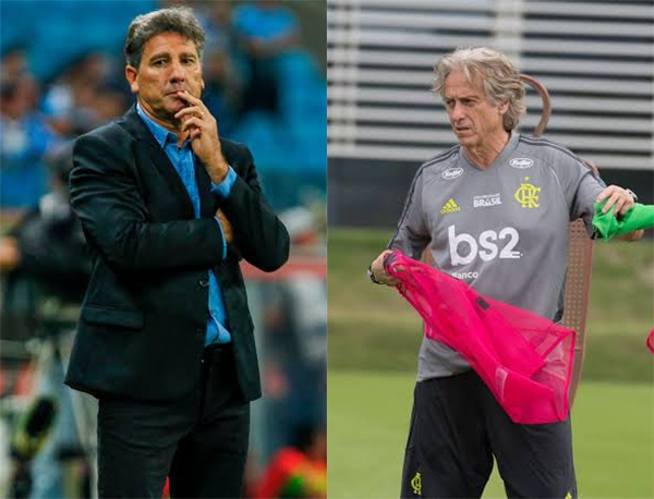 Fotos: Lucas Uebel/Grêmio e Alexandre Vidal/Flamengo