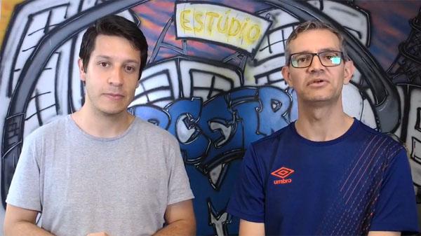 Lucas Reis e Frank Fortes debateram as possibilidades de Flamengo e River. Foto: Reprodução