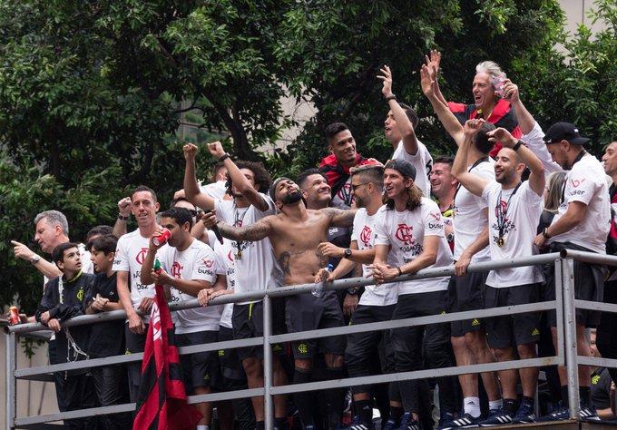Jogo foi disputado no Allianz Parque. Foto: Twitter/Flamengo