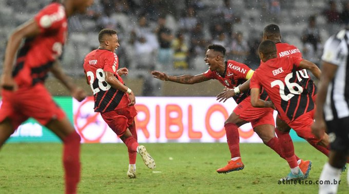 Equipe paranaense superou o Atlético-MG no Mineirão. Foto: Twitter/Athletico-PR