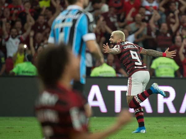 Golaço vencedor do prêmio foi marcado no jogo de volta das semifinais. Foto: Alexandre Vidal, Marcelo Cortes & Paula Reis / Flamengo