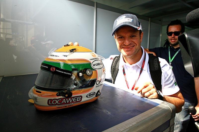 Então pela Wiliams, piloto correu com um capacete em homenagem a Ayrton Senna. Foto: Carsten Horst