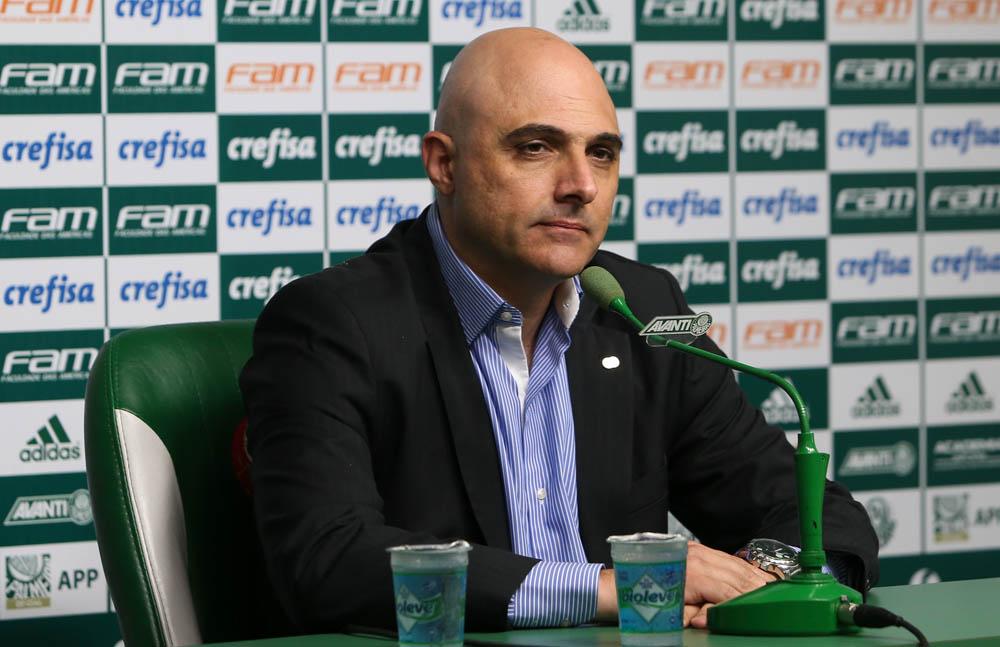 Presidente do Verdão foi um dos alvos da torcida. Foto: Palmeiras/Divulgação