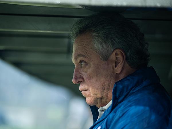 No clube desde setembro, o treinador deixa a Raposa na zona de rebaixamento. Foto: Bruno Haddad/Cruzeiro