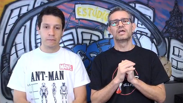 Lucas Reis e Frank Fortes durante a Live desta sexta-feira. Foto:Reprodução