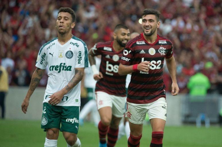 No primeiro turno, Mengão fez 3 a 0 no Verdão, Foto: Alexandre Vidal/Flamengo
