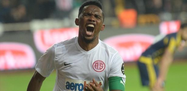 Atacante Samuel Eto´o deseja jogar no Brasil após passagem pelo futebol turco
