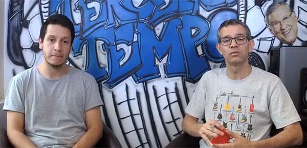Lucas Reis e Frank Fortes na abertura da Live do Terceiro Tempo. Foto: Reprodução/Facebook