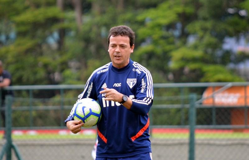 Fernando Diniz deve testar varias opções neste domingo. Foto: Foto: Érico Leonan / saopaulofc.net