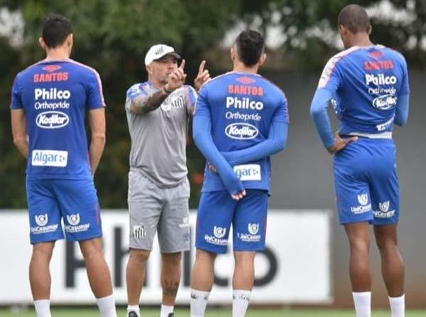 Partida pode ser a última com Sampaoli no comando do Peixe. Foto: Ivan Storti/ Santos FC