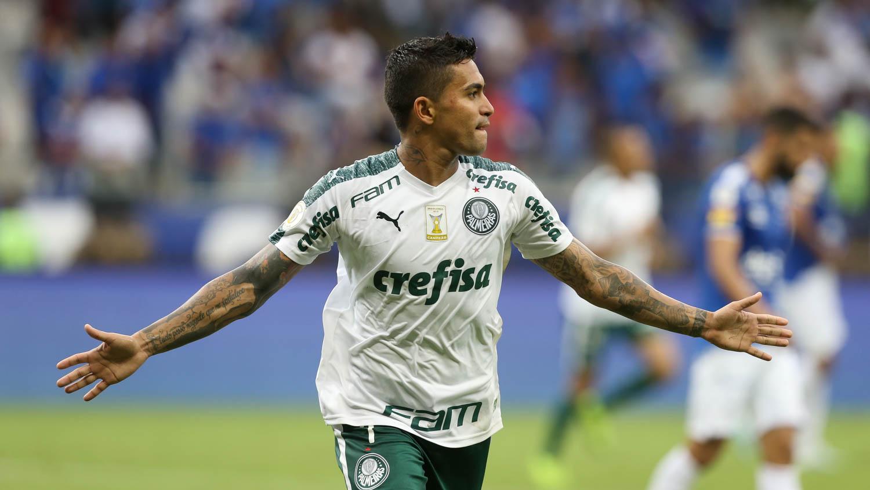 Atacante marcou seu 41º gol no certame nacional. Foto: César Greco/Ag.Palmeiras/Divulgação