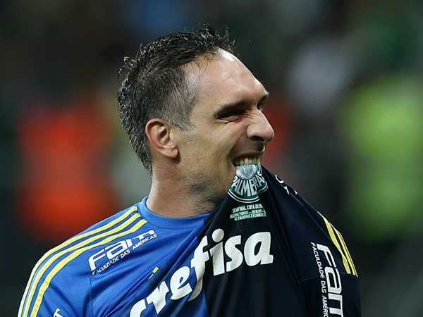 Aos 41 anos, o goleiro destacou que pretende seguir jogando. Foto: Cesar Greco/Ag Palmeiras/Divulgação