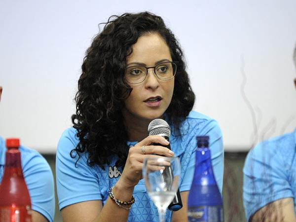 Primeira mulher a assumir o cargo, a ex-auxiliar trabalhava como instrutora do VAR. Foto Rodrigo Corsi/FPF