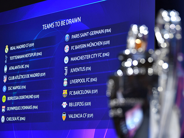Em sorteio realizado na Suíça, Uefa definiu os duelos do mata-mata da Champions. Foto: Divulgação