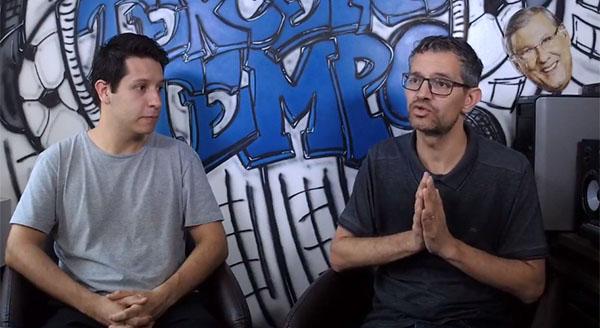 Lucas Reis e Frank Fortes durante a Live desta segunda-feira, 16. Foto: Reprodução/Facebook