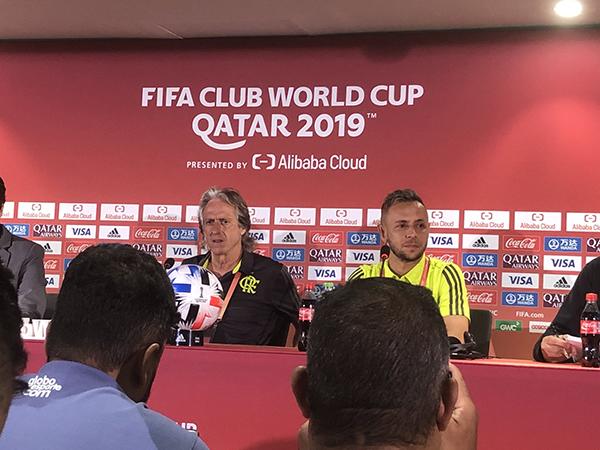 Lateral e treinador do Mengão destacaram que a equipe está pronta para encarar o Al Hilal. Foto: Divulgação